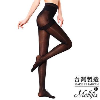 【Mollifix】踮腳尖極塑緊緻塑身襪 (黑)