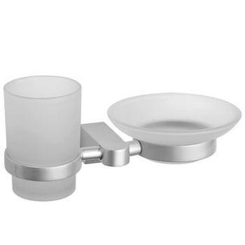 【TAP】衛浴配件 太空鋁-皂盤+杯架