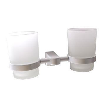 【TAP】衛浴配件 太空鋁-雙杯架