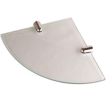 【Aberdeen】衛浴配件-角落專用玻璃平台架(無框)25cm