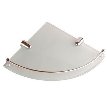 【Aberdeen】衛浴配件-角落專用玻璃平台架(有框)25cm