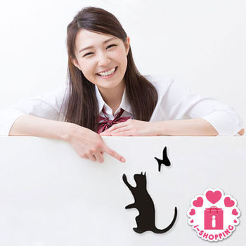 【愛逛街】貓咪開關貼-1入