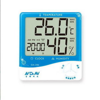超大螢幕五合一智能數位液晶溫濕度計(GM-286)