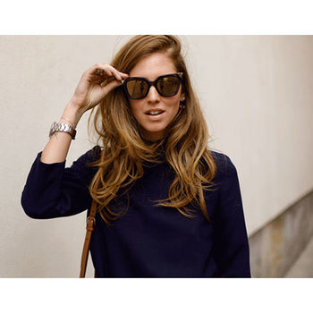FENDI 名模限量款 太陽眼鏡 (深咖啡+金 )