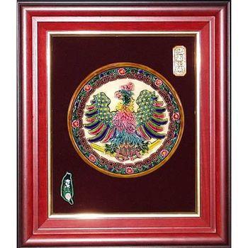 【鹿港窯】交趾陶開運裝飾壁飾-鴻圖大展(圓形)