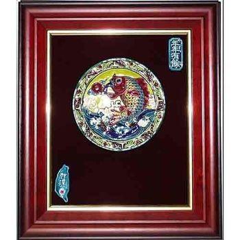 【鹿港窯】交趾陶裝飾壁畫-連年有餘(M)