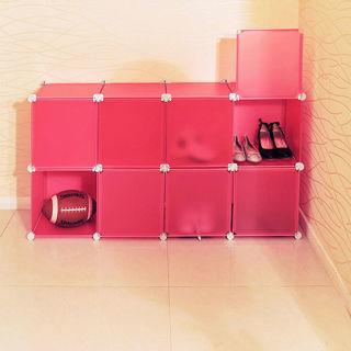 【ikloo宜酷屋】8格8門收納櫃-12吋百變收納櫃/組合櫃