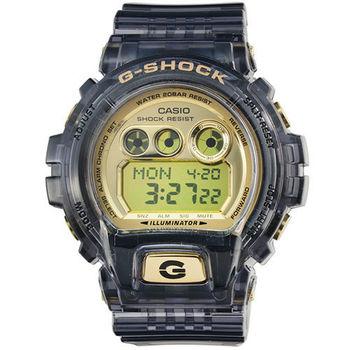 CASIO 日系卡西歐G-SHOCK鬧鈴電子錶-果凍黑 / GD-X6900FB-8