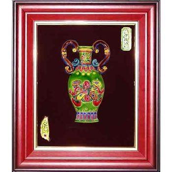 【鹿港窯】交趾陶裝飾壁畫-平安如意(M)