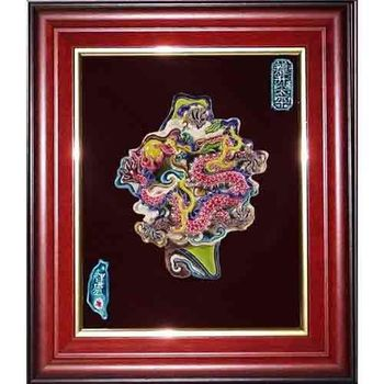 鹿港窯-交趾陶裝飾壁畫-龍升太平-庇佑台灣(M)