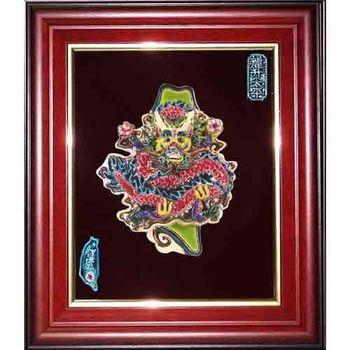 【鹿港窯】交趾陶裝飾壁畫-龍升太平-保佑台灣(M)