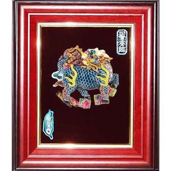【鹿港窯】交趾陶裝飾壁畫-四寶麒麟(S)
