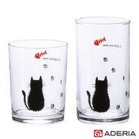 ~ADERIA~ 貓咪足跡玻璃杯2入組