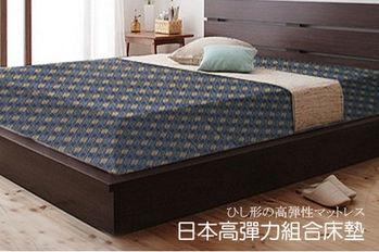 【KOTAS】日式高彈力菱格床墊(單人-3x6.2尺)
