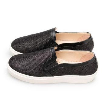 FUFA MIT時尚懶人休閒鞋  (FE44) 黑