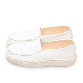 FUFA MIT 帥性頹廢舒適懶人鞋 (FL04) 白
