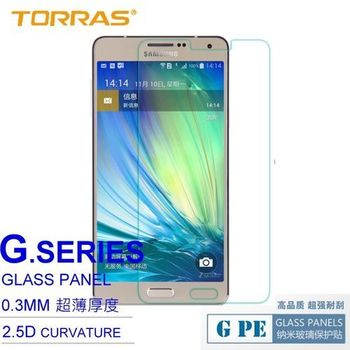 【TORRAS圖拉斯】Samsung GALAXY A7 防爆鋼化玻璃貼 G PE 系列 9H硬度 2.5D導角 0.3MM 弧面切割 加送面條線