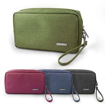 時尚精選 多用途收納/3C配件包-蔚藍/軍綠/酷灰/紅褐