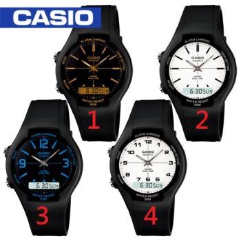 【CASIO 卡西歐】日系雙顯款-學生/青少年指定(AW-90H)
