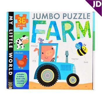 【英國Caterpillar原文童書】我的小世界-地板大拼圖-農場 Jumbo Puzzle-Farm