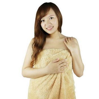 極超細纖維柔軟浴巾75*150cm/褐色 RM-90008