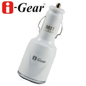 i-Gear 3.1A大電流雙USB車用充電器(白)