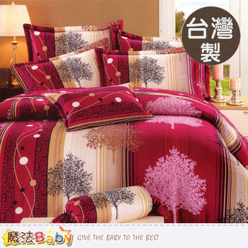 魔法Baby~台灣製秀士棉3.5x6.2尺單人純棉枕套床包組~x016808