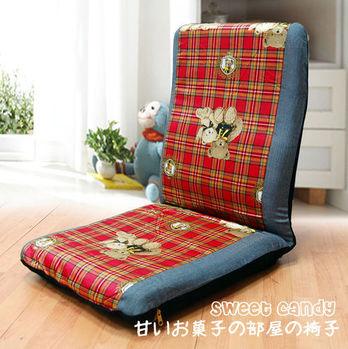 【KOTAS】可愛熊熊 高背和室椅(紅)