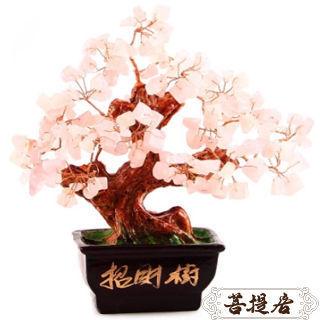 【菩提居】天然粉水晶桃花招財樹(桃花朵朵開)