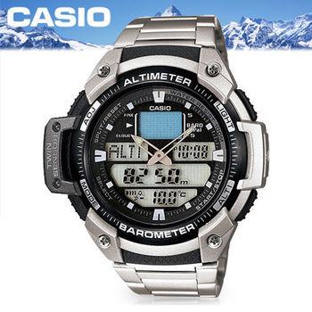 【CASIO 卡西歐 SPORTS 系列】溫高度氣壓測量戶外運動錶(SGW-400HD)