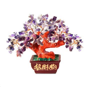【菩提居】天然紫水晶貴人招財樹
