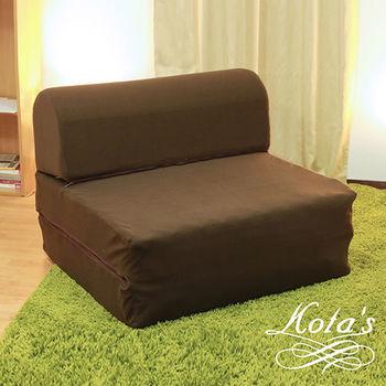 【KOTAS】天鵝絨彈簧沙發床(單人)