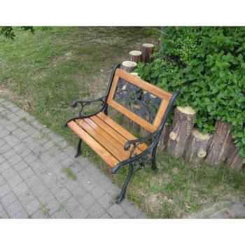 BROTHER 兄弟牌歐式典雅單人鑄鐵公園椅