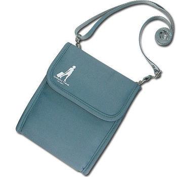 《旅行玩家》旅行多功能護照斜背包(灰色)