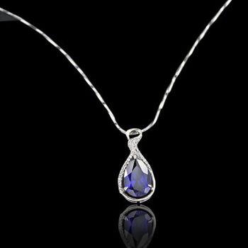 【JA-ME】相伴一生925純銀藍寶剛玉項鍊