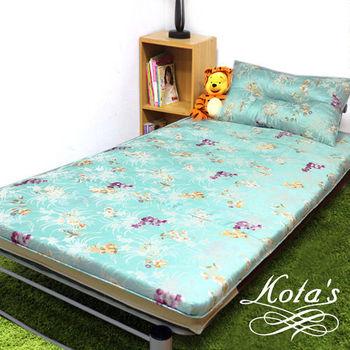 【KOTAS】冬夏透氣床墊-單人 一入(送 記憶枕) 《古典花淺綠》
