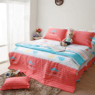 【R.Q.POLO】童年記憶 精梳棉-雙人標準五件式兩用被床罩組(5X6.2尺)
