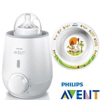 PHILIPS AVENT 快速食品加熱器+QQ兔學習小碗(單入)6M+
