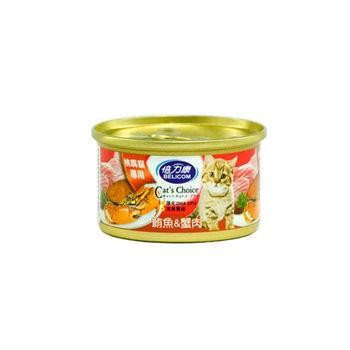 【BELICOM】倍力康 挑嘴貓-鮪魚+蟹肉 貓罐80G x 24入