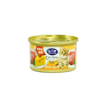 【BELICOM】倍力康 挑嘴貓-鮪魚+起司 貓罐80G x 24入