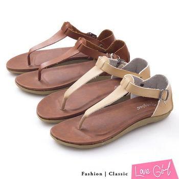 ☆Love Girl☆舒適感簡約T字環裸夾腳涼鞋