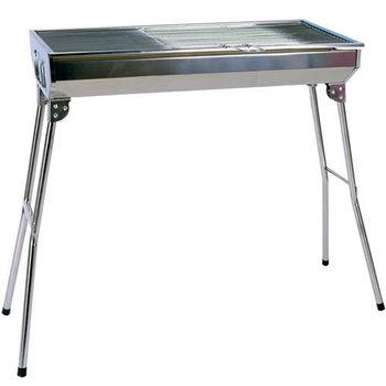 《WSH》家庭號-不鏽鋼簡昜折疊燒烤架/烤肉架