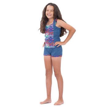 【sunseeker 泳裝】(53536)澳洲名品少女牛仔丹寧系列連身泳裝