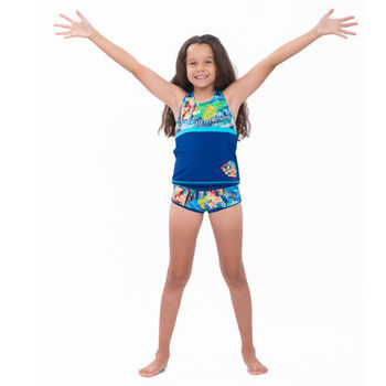 【sunseeker 泳裝】 (53542)澳洲名品少女煙花絢爛系列泳裝