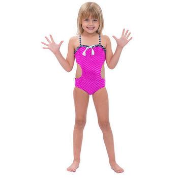 【sunseeker 泳裝】(50520)澳洲名品女童時尚點點泳裝