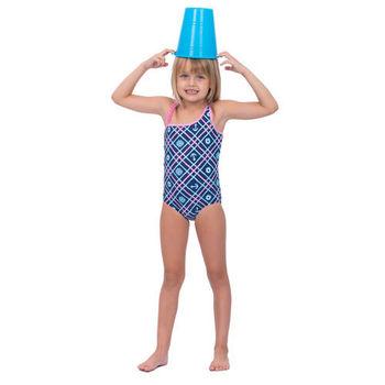 【sunseeker 泳裝】 (50515)澳洲名品女童魅力幾何風系列-連身泳裝
