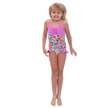 【sunseeker 泳裝】(50502)澳洲名品女童經典小碎花系列連身泳裝