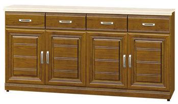 【時尚屋】[G15]帕爾樟木色實木5.3尺石面餐櫃284-2