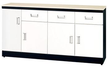【時尚屋】[G15]黑白配5尺石面餐櫃273-3