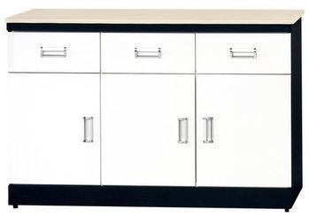 【時尚屋】[G15]黑白配4尺石面餐櫃273-2